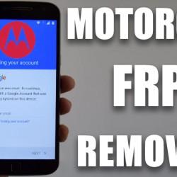 FRP Service Remove Google lock Account Motorola New Security